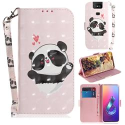 Heart Cat 3D Painted Leather Wallet Phone Case for Asus ZenFone 6 (ZS630KL)