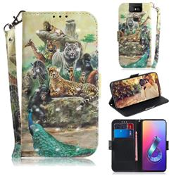 Beast Zoo 3D Painted Leather Wallet Phone Case for Asus ZenFone 6 (ZS630KL)