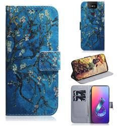 Apricot Tree PU Leather Wallet Case for Asus ZenFone 6 (ZS630KL)