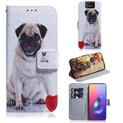 Pug Dog PU Leather Wallet Case for Asus ZenFone 6 (ZS630KL)