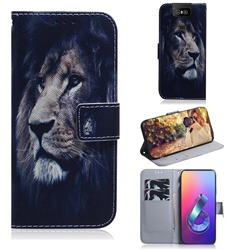 Lion Face PU Leather Wallet Case for Asus ZenFone 6 (ZS630KL)