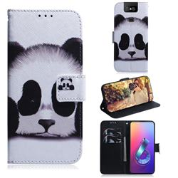 Sleeping Panda PU Leather Wallet Case for Asus ZenFone 6 (ZS630KL)