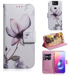 Magnolia Flower PU Leather Wallet Case for Asus ZenFone 6 (ZS630KL)
