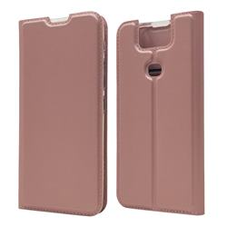 Ultra Slim Card Magnetic Automatic Suction Leather Wallet Case for Asus ZenFone 6 (ZS630KL) - Rose Gold