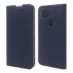 Ultra Slim Card Magnetic Automatic Suction Leather Wallet Case for ZTE A1 ZTG01 5G - Royal Blue
