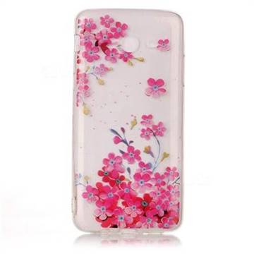Plum Blossom Bloom Super Clear Soft TPU Back Cover for Samsung Galaxy J7 2017 Halo