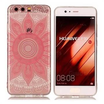 Pink Mandala Super Clear Soft TPU Back Cover for Huawei P10