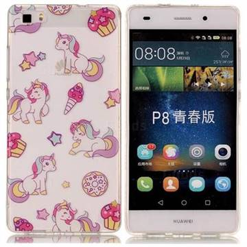 Unicorn Super Clear Soft TPU Back Cover for Huawei P8 Lite P8lite