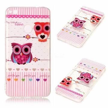 Owls Flower Super Clear Soft TPU Back Cover for Huawei P8 Lite 2017 / P9 Honor 8 Nova Lite