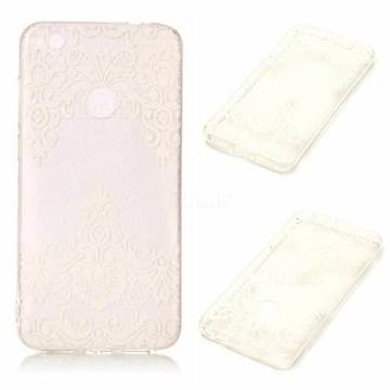 Diagonal Lace Super Clear Soft TPU Back Cover for Huawei P8 Lite 2017 / P9 Honor 8 Nova Lite