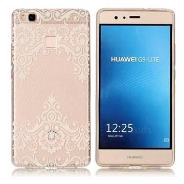 Diagonal Lace Super Clear Soft TPU Back Cover for Huawei P9 Lite G9 Lite