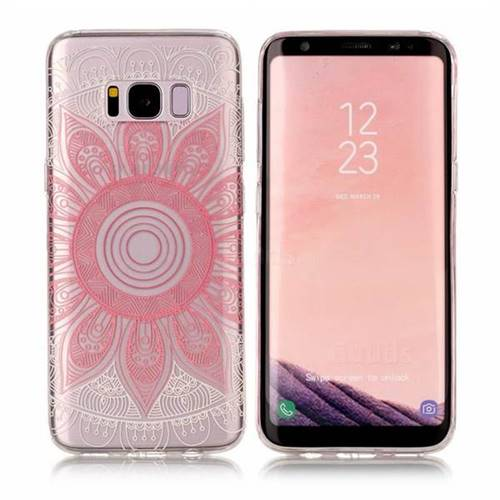 Pink Mandala Super Clear Soft TPU Back Cover for Samsung Galaxy S8