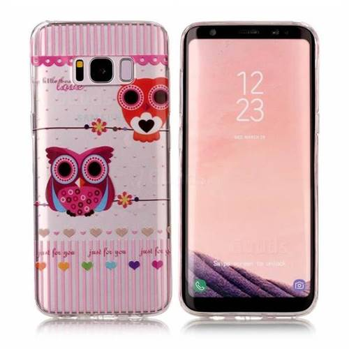 Owls Flower Super Clear Soft TPU Back Cover for Samsung Galaxy S8 Plus S8+