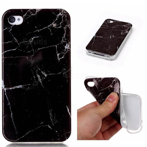 Black Soft TPU Marble Pattern Case For IPhone 4s 4 4G