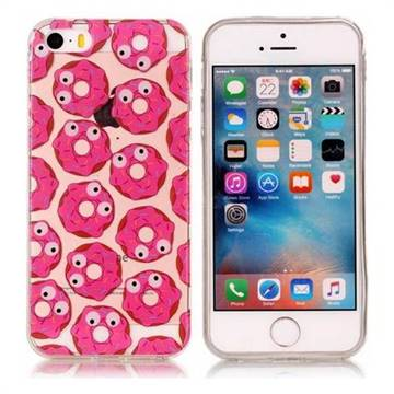 Eye Donuts Super Clear Soft TPU Back Cover for iPhone SE 5s 5