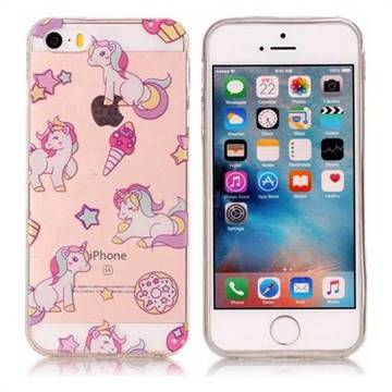 Unicorn Super Clear Soft TPU Back Cover for iPhone SE 5s 5
