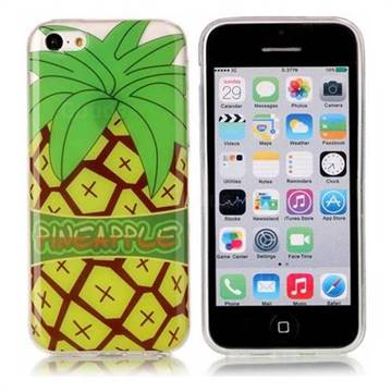 Big Pineapple Super Clear Soft TPU Back Cover for iPhone 5c