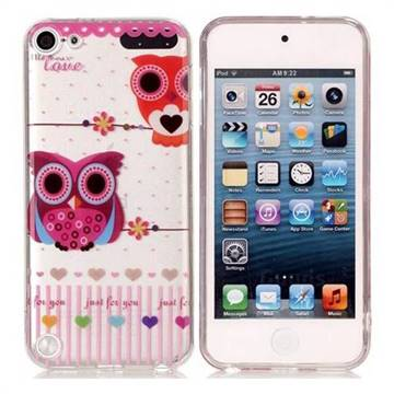 Owls Flower Super Clear Soft TPU Back Cover for iPod Touch 5 6