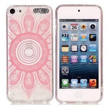 Pink Mandala Super Clear Soft TPU Back Cover for iPod Touch 5 6