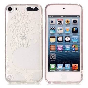 Bird Skull Face Super Clear Soft TPU Back Cover for iPod Touch 5 6