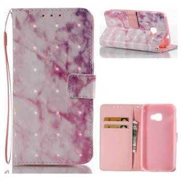 Pink Marble 3D Painted Leather Wallet Case for Samsung Galaxy Xcover 4 G390F