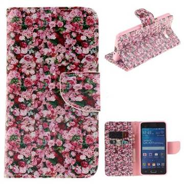 Intensive Floral PU Leather Wallet Case for Samsung Galaxy Grand Prime G530