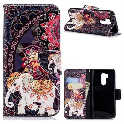 Totem Flower Elephant Leather Wallet Case for LG G7 ThinQ