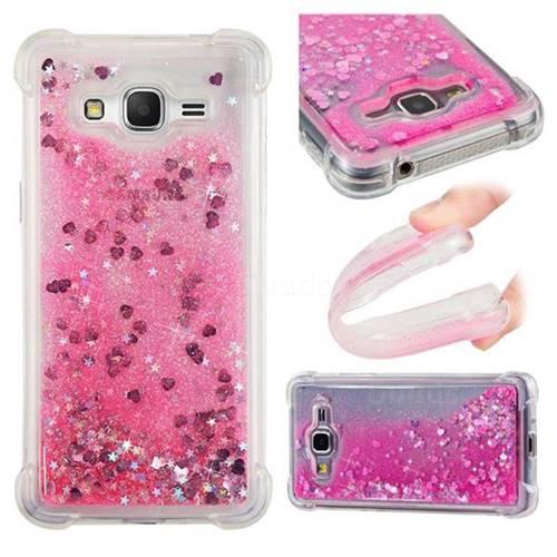 Dynamic Liquid Glitter Sand Quicksand TPU Case for Samsung Galaxy J2 Prime G532 - Pink Love Heart