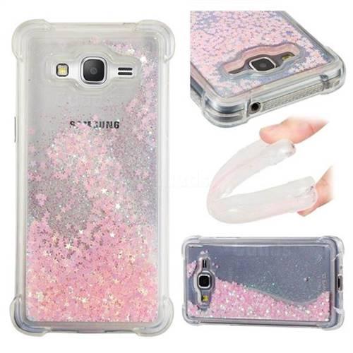 Dynamic Liquid Glitter Sand Quicksand TPU Case for Samsung Galaxy J2 Prime G532 - Silver Powder Star