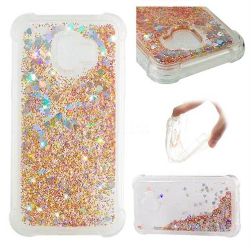 Dynamic Liquid Glitter Sand Quicksand Star TPU Case for Samsung Galaxy J2 Pro (2018) - Diamond Gold