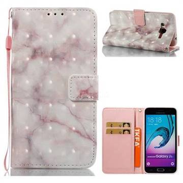 Beige Marble 3D Painted Leather Wallet Case for Samsung Galaxy J3 2016 J320