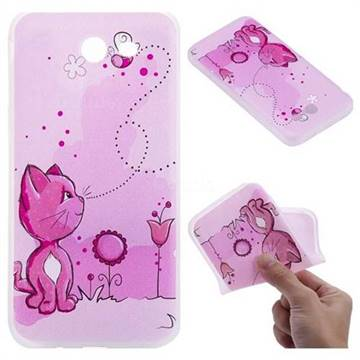 Cat and Bee 3D Relief Matte Soft TPU Back Cover for Samsung Galaxy J3 2017 Emerge US Edition