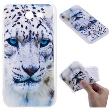 White Leopard 3D Relief Matte Soft TPU Back Cover for Samsung Galaxy J3 2017 Emerge US Edition