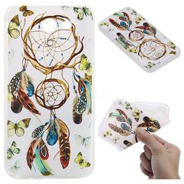 Color Wind Chimes 3D Relief Matte Soft TPU Back Cover for Samsung Galaxy J3 2017 Emerge US Edition