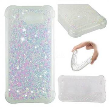 Dynamic Liquid Glitter Sand Quicksand Star TPU Case for Samsung Galaxy J3 2017 Emerge US Edition - Pink