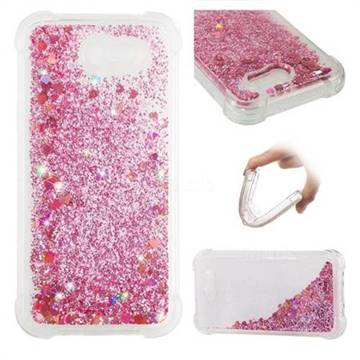 Dynamic Liquid Glitter Sand Quicksand Star TPU Case for Samsung Galaxy J3 2017 Emerge US Edition - Diamond Rose