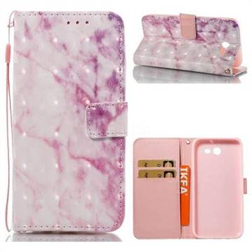 Pink Marble 3D Painted Leather Wallet Case for Samsung Galaxy J3 2017 Emerge