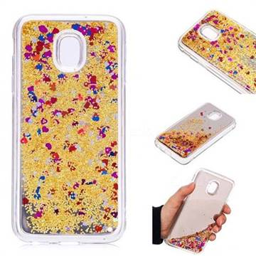 Glitter Sand Mirror Quicksand Dynamic Liquid Star TPU Case for Samsung Galaxy J3 2017 J330 Eurasian - Yellow