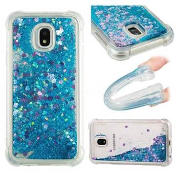 Dynamic Liquid Glitter Sand Quicksand TPU Case for Samsung Galaxy J3 2017 J330 Eurasian - Blue Love Heart