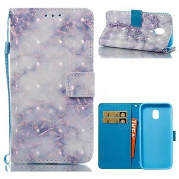 Green Gray Marble 3D Painted Leather Wallet Case for Samsung Galaxy J3 2017 J330