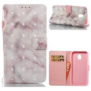 Beige Marble 3D Painted Leather Wallet Case for Samsung Galaxy J3 2017 J330