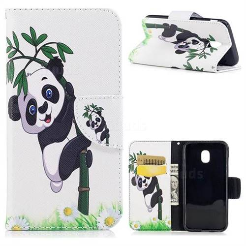 Bamboo Panda Leather Wallet Case for Samsung Galaxy J3 2017 J330