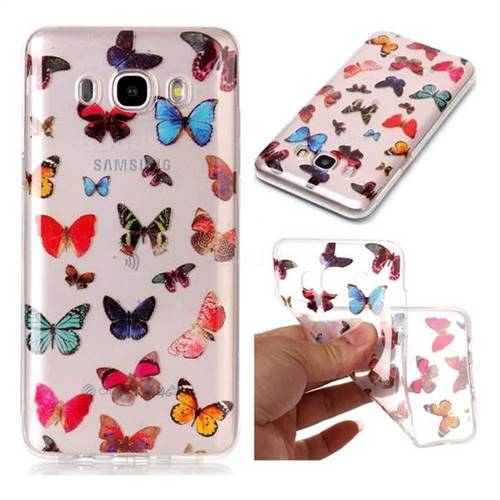 Colorful Butterfly Super Clear Soft TPU Back Cover for Samsung Galaxy J5 2016 J510