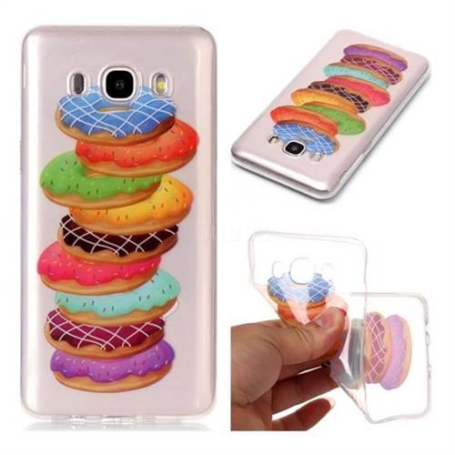 Melaleuca Donuts Super Clear Soft TPU Back Cover for Samsung Galaxy J5 2016 J510
