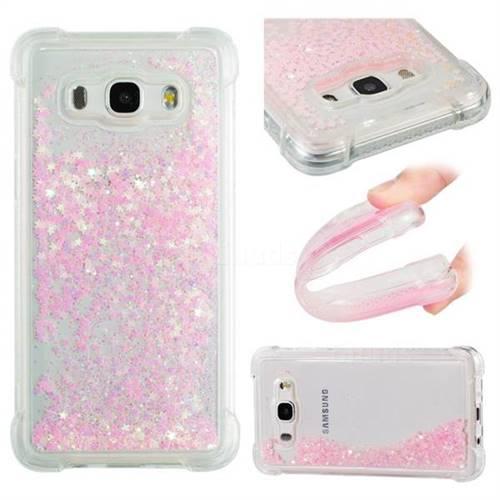 Dynamic Liquid Glitter Sand Quicksand TPU Case for Samsung Galaxy J5 2016 J510 - Silver Powder Star