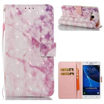 Pink Marble 3D Painted Leather Wallet Case for Samsung Galaxy J5 2016 J510