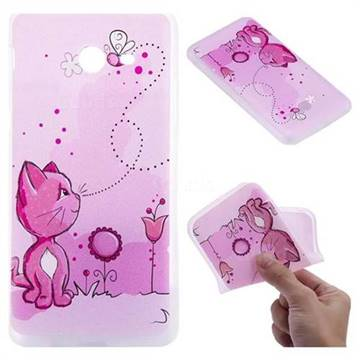 Cat and Bee 3D Relief Matte Soft TPU Back Cover for Samsung Galaxy J5 2017 US Edition