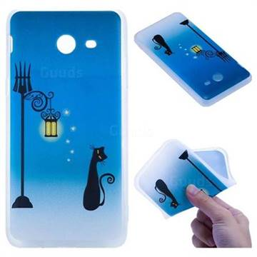 Street Light Cat 3D Relief Matte Soft TPU Back Cover for Samsung Galaxy J5 2017 US Edition