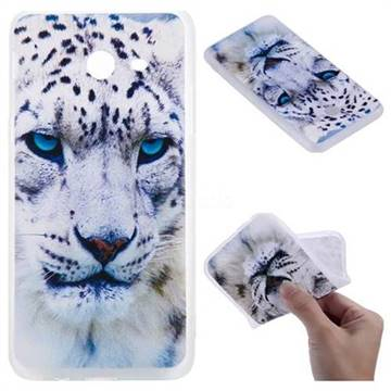 White Leopard 3D Relief Matte Soft TPU Back Cover for Samsung Galaxy J5 2017 US Edition
