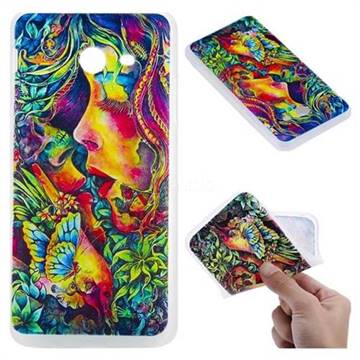 Butterfly Kiss 3D Relief Matte Soft TPU Back Cover for Samsung Galaxy J5 2017 US Edition